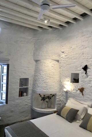 nireas house sifnos fireplace