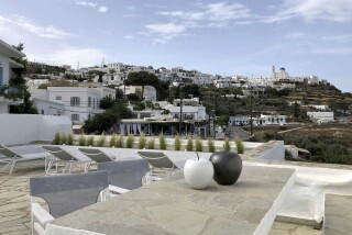 nireas house sifnos veranda view